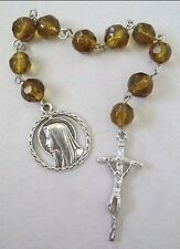 Sml beaded Catholic Prayer Rosary Chaplet Jesus Christ Hail Mary Christian God