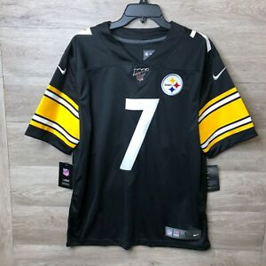 NEW Nike Mens Large On Field Ben Roethlisberger Steelers Jersey Stitched CQ3524