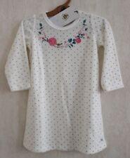 Neuf : Pyjama chemise de nuit PETIT BATEAU 6 ans ivoire oiseau velours fille