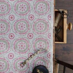 Peony and Sage - Suzanni - Henna and Hot Pink on Dune - Fabric 200cmX145cm