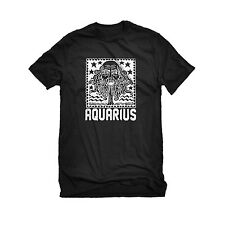 Mens Aquarius Zodiac Astrology Mens T-shirt #3250