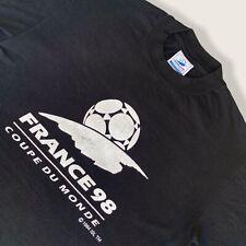France 98 Coupe Du Monde Vintage 90s World Cup Official Black T-shirt | Men's S