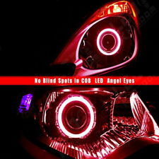 2x 80mm LED COB Red Angel Eyes Halo Ring Kit Fog Driving DRL Light Decoration