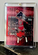 Michael Jordan Card - Refractor - INSERT - RED CHROME FOIL SP- BULLS JERSEY #23