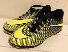 Nike Bravata II Soccer Cleats Boys Girl Youth Shoes US 13 C UK 12.5 Black Yellow