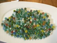 Vintage Glass Marbles Lot of  15 Cat/'s Eye GREEN13//16