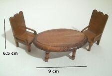 meubles en bois pour vitrine maison de poupée,table ,chaises, miniatures   *B13