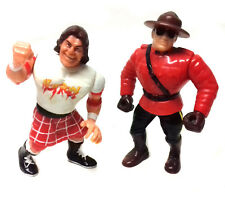 """VINTAGE 90's Hasbro WWF WWE RODDY PIPER & THE MOUNTY 4"""" toy figures"""