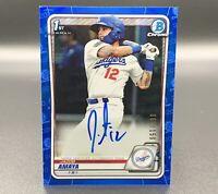 Jacob Amaya 68/150 Auto 2020 1st Bowman Chrome Blue CPA-JA RC LA Dodgers MLB