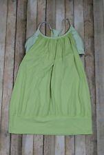 Lululemon No Limits Tank Top Womens Size 10 Yellow Stripe Bra Yoga Loose Flowy