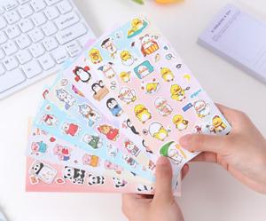 Colourful cartoon animal self-adhesive stickers kid's scrapbooking diary phone