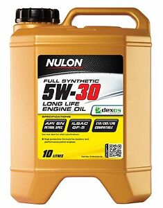 Nulon Full Synthetic Long LIfe Car Engine Oil 5W-30 10 Litre