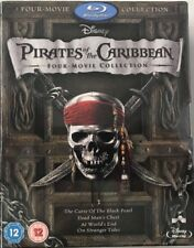 Pirates Of The Caribbean 1-4 (Blu-ray, 2011, 5-Disc Set, Box Set) Johnny Depp