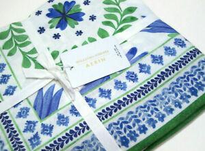 "Williams Sonoma Aerin Nappe Ardsley Paisley Cotton Linen Table Cloth 70"" X 108"""