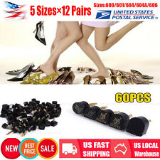 12 Pairs×5 Sizes High Heel Shoe Repair Pins Tips Tap Dowel Lifts Replacement Set