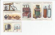 6 Vintage 1915 Inventions Cards Watt Steam Engine Oil Engine Vacuum Brake Flask