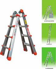 Scala Alluminio Telescopica 4 + 4 Gradini Marchetti H 4.30 Mt 20701 Squadra