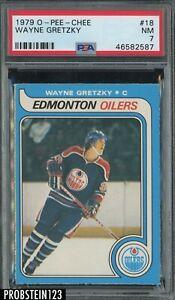 "1979 O-Pee-Chee OPC Hockey #18 Wayne Gretzky RC Rookie HOF PSA 7 "" LOOKS NICER """