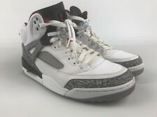 AIR JORDAN SPIZ'IKE Sz 10 WHITE GREY RED