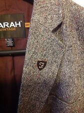 Farah Vintage mens sports jacket blazer gray tweed 44R