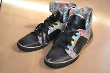 supra skytop floral acid drop black leather mens size 11
