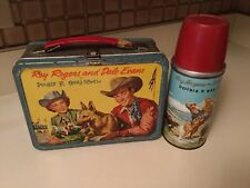 1957 Roy Rogers and Dale Evans Double R Bar Ra 00004000 nch Lunchbox with Thermos