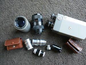 Joblot Cine & projector lenses Taylor Hobson Leicina Leitz Isco Sankyo