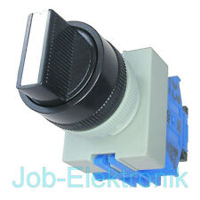 Drehschalter Schalter 3 Positionen 2 Schließer 22mm Idec/japan