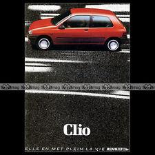 ★ RENAULT CLIO 1.1 1.2 1.7 1.9 D RL RN RT ★ 1991 Brochure Dépliant PUB #BA155