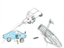 Live Cars in Action (ORIGINAL Drawing by 7-yr-old Jack; 100% of sales donated)