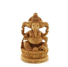 STATUE DE GANESH ELEPHANT EN BOIS PORTE BONHEUR  4894