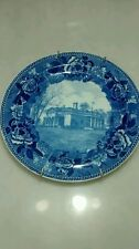 Antique Wedgewood Monticello home of Thomas Jefferson blue plate collectible