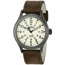 Timex Expedition Scout Watch With Brown Leather Strap T49963