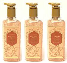3 BATH & BODY WORKS WHITE BARN LAVENDER ROSE DEEP CLEANSING HAND SOAP 8 OZ