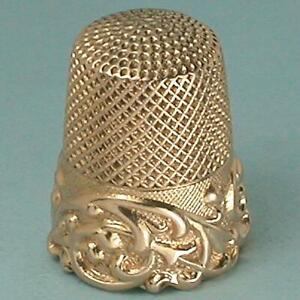 Antique 14 Kt Gold Louis XV Band Thimble by Ketcham & McDougall * Circa 1890s