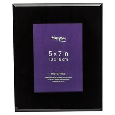 N295157 Noir Black 50mm Wide Bevel Edged Glass 5x7 Photo Picture Display Frame