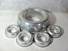 "Vintage Aluminum 8"" Tube Cake/Bundt Pan/Jell-O Ring Mold & 4 Mini 3 1/2"" Molds"