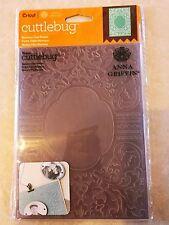 Anna Griffin Cuttlebug embossing folders BAROQUE VINE FRAME 5 x 7 folder frames