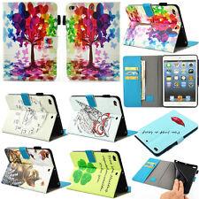 Folio Flip Stand Leather Case Cover For iPad Air Pro Mini / Samsung Galaxy Tab