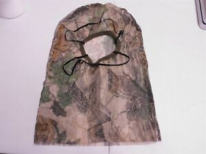 Vintage Realtree Xtra Brown Camo Turkey Deer Bow Hunting Mesh Facemask Head Net