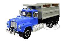 MACK R DUMP TRUCK BLUE W/GRAY BODY 1/64 DIECAST MODEL BY DCP/FIRST GEAR 60-0580