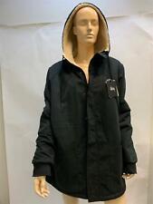 NEW Stussy Reverse Sherpa Jacket with Hood, Black, Mens size Large