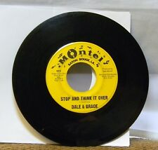 DALE & GRACE - STOP AND THINK IT OVER 45 RPM RECORD