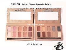 All 2 Palettes!! Okalan NUDE & SMOKEY Eyeshadow Palettes -SAVE!! Brand New!