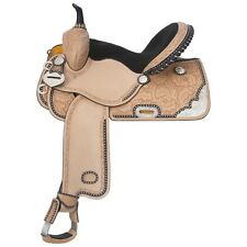 13 Inch Burn the Breeze Western Barrel Racing Saddle - Silver Royal
