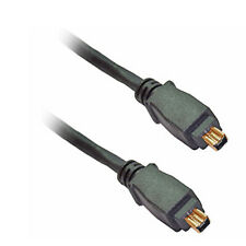 4.6M Long Firewire Cable 4 pin to 4 pins 4-4 IEEE1394 Cable Lead Wire - GOLD