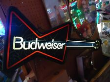 Budweiser Guiter Beer Light Sign Big Man Cave Sale Neo Neon Check It Out