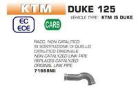 ARROW RACCORDO DEKAT ELIMINA CATALIZZATORE KTM DUKE 125 2017-2018