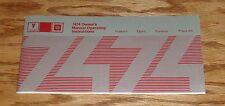 1974 Pontiac Firebird Trans Am Esprit Formula Owners Operators Manual 74