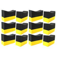 12 Contour Tire Dressing Applicator Pads Gloss Shine Color Sponge Wax Polishing